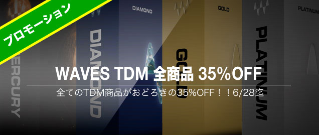 WAVES TDM全商品35%OFF